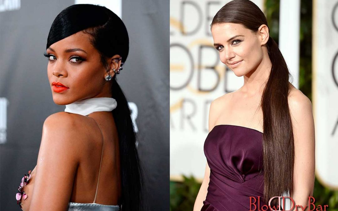 The success of the low ponytail