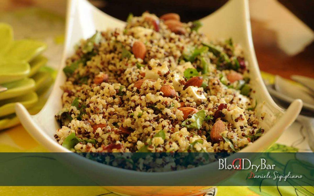 Ensalada de quinoa con rúcula