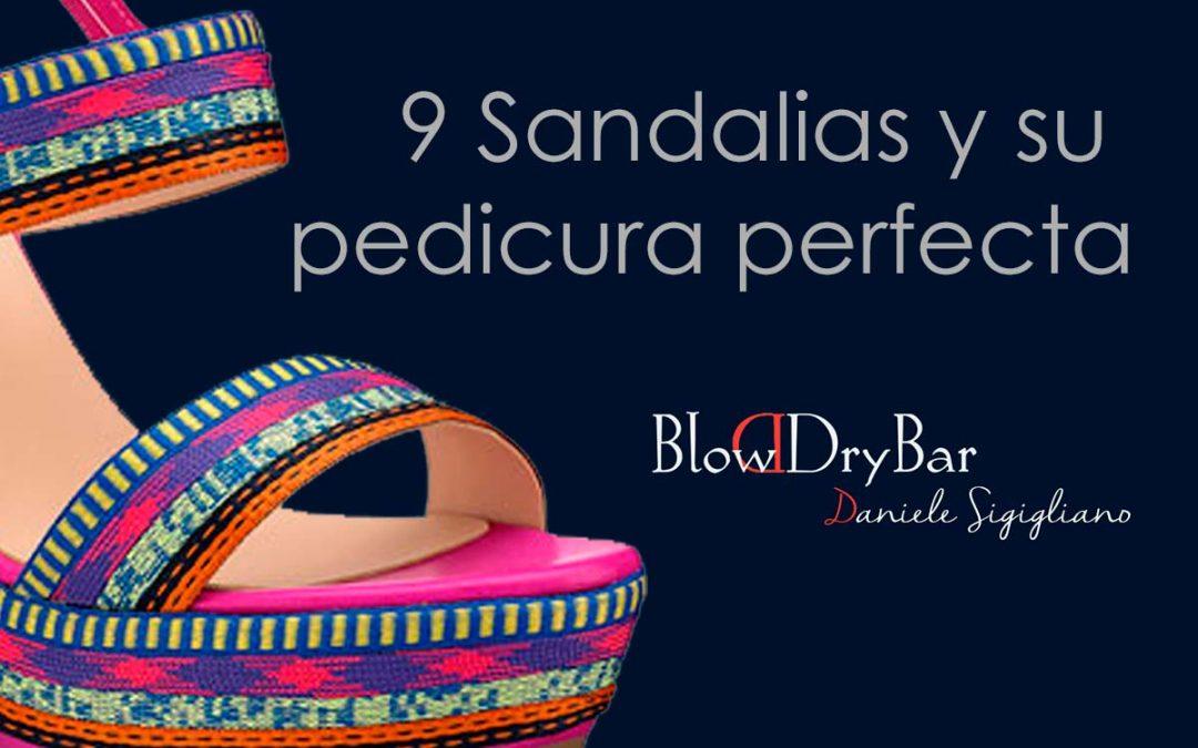 9 sandalias… y su pedicura perfecta